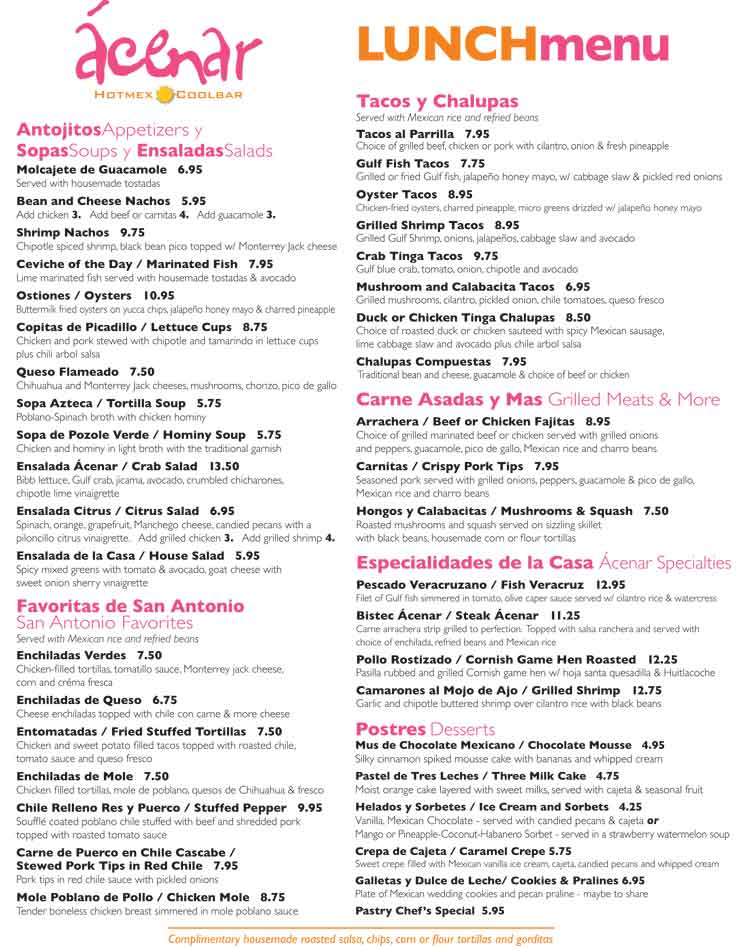 Bourbon Street Seafood Kitchen Menu