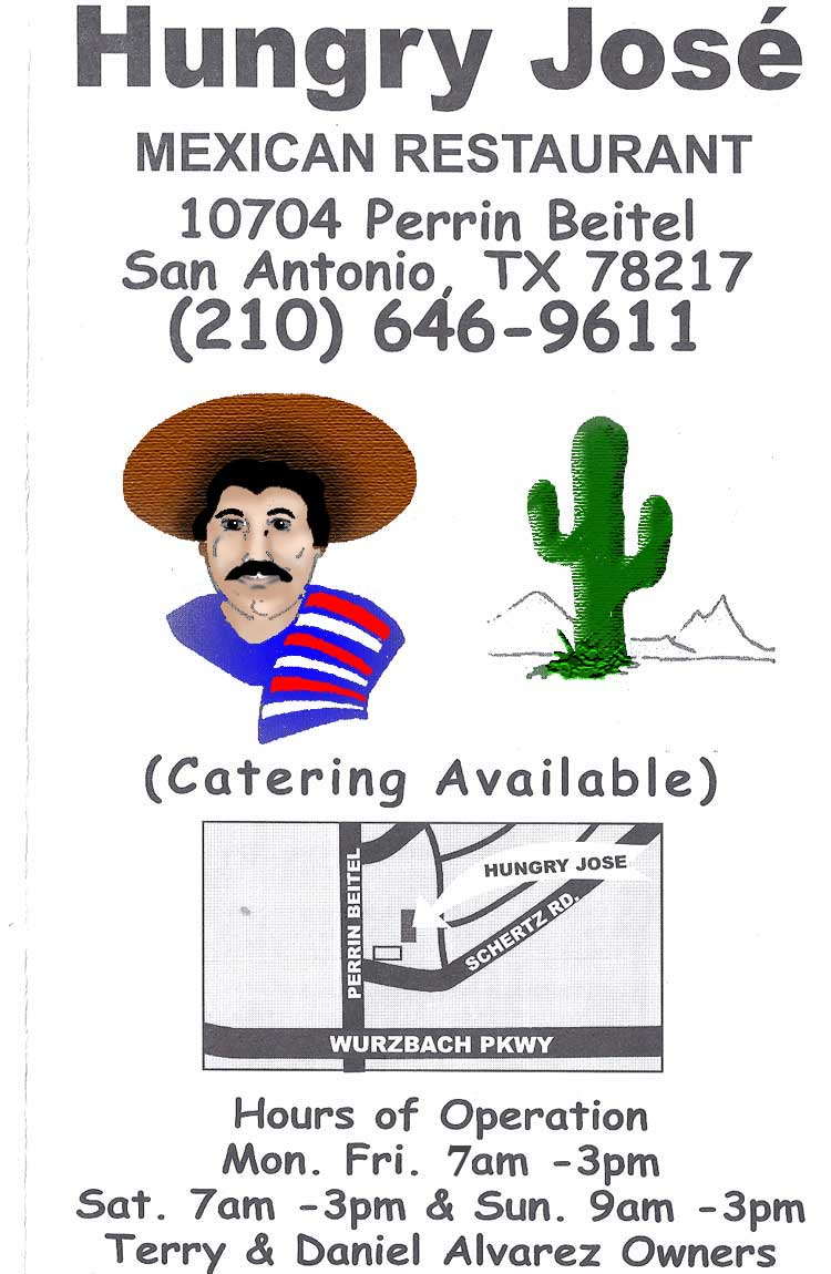 Hungry Jose Restaurant Menu San Antonio